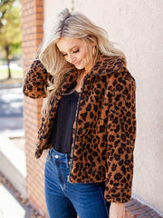 bb Dakota leopard jacket