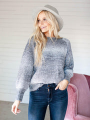 rib accent heartloom sweater