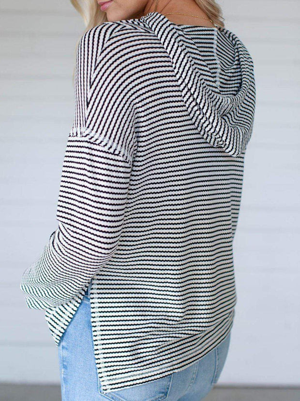 billabong Stripe Hooded Sweatshirt