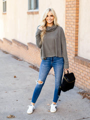 free people basic raw seam sweater