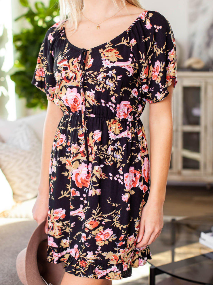saltwater luxe floral dress