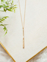 Textured Slim Gold Necklace