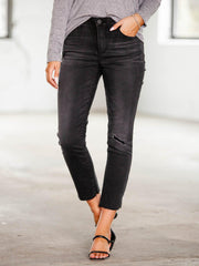 democracy knee slit denim