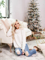 ivory cowl neck sweater