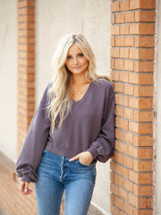 AGOLDE V-Neck Sweatshirt