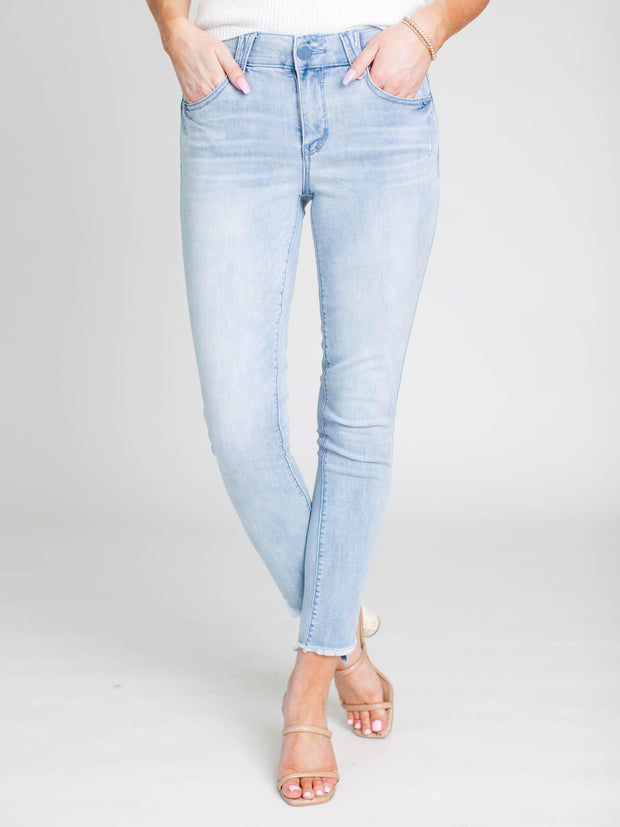 fray step hem denim