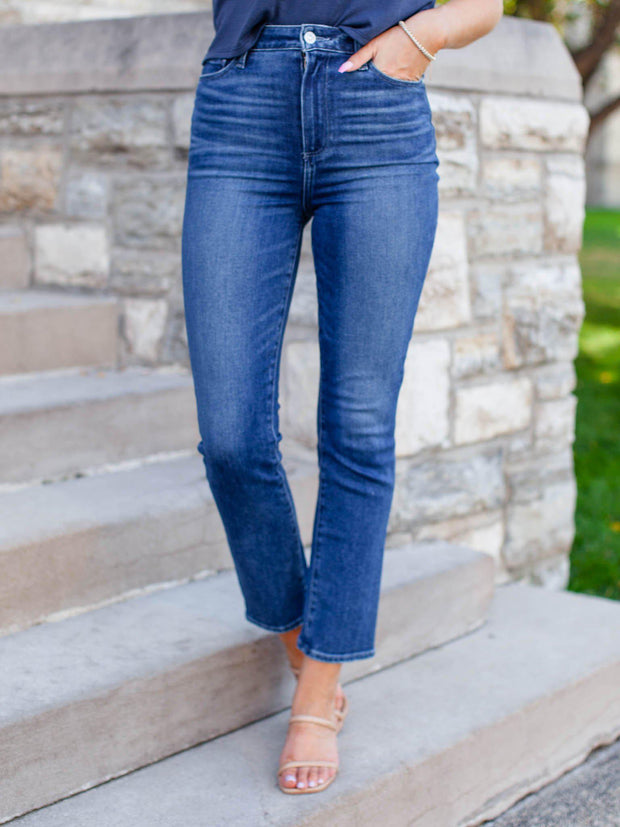 PAIGE Washed Ankle Denim