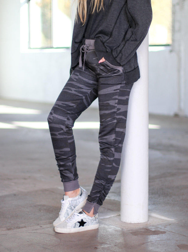 ruched side jogger pants