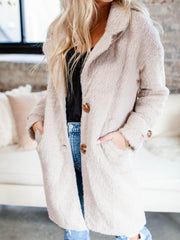 collared button front coat