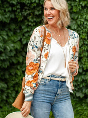 Saltwater Luxe Floral Printed Cropped Jacket
