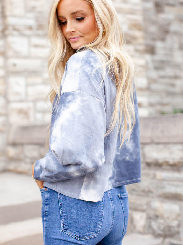 crop tie dye long sleeve
