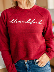 thankful crew neck sweatshirt
