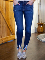 KanCan Distressed Ankle Skinny