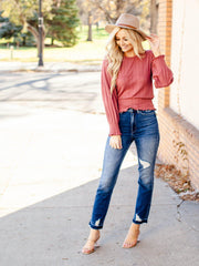 dolman cropped long sleeve