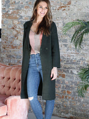 Open Front Duster Length Jacket