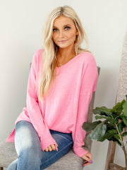 bright drop shoulder sweater
