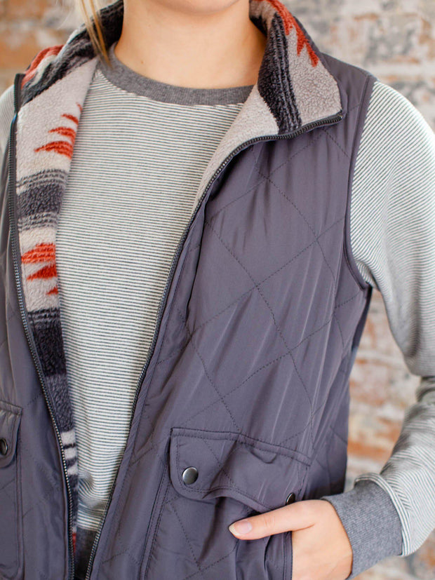 thread & supply quilted vest