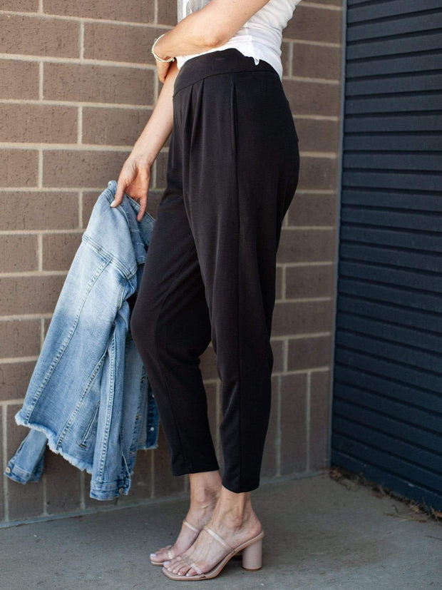 Gentle Fawn High Rise Pleated Tapered Pant