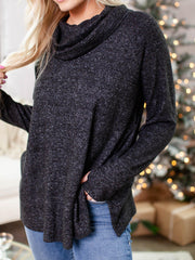 relaxed cowl sweater