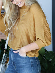 Pleated Dolman Top