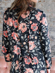 Saltwater Luxe Corset Back Floral Duster