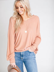basic ribbed v-neck top