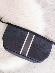 black denim cosmetic case