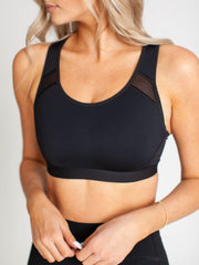 spanx sheer panel bra