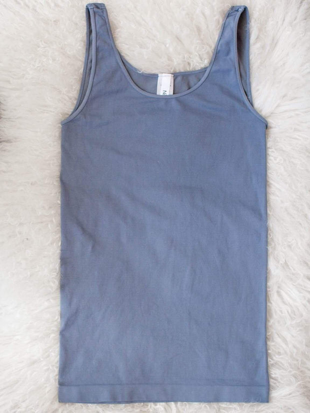Scoop Neck Fitted Tank
