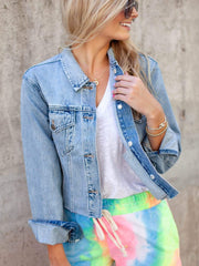 Cropped Pistola Denim Jacket
