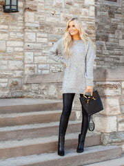 Long Sleeve Tunic Sweater Dress