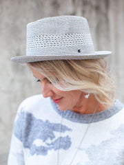 Grey Paper Infused Hat