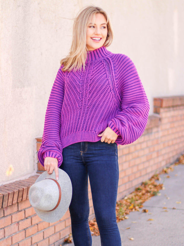free people ribbed chunky sweater