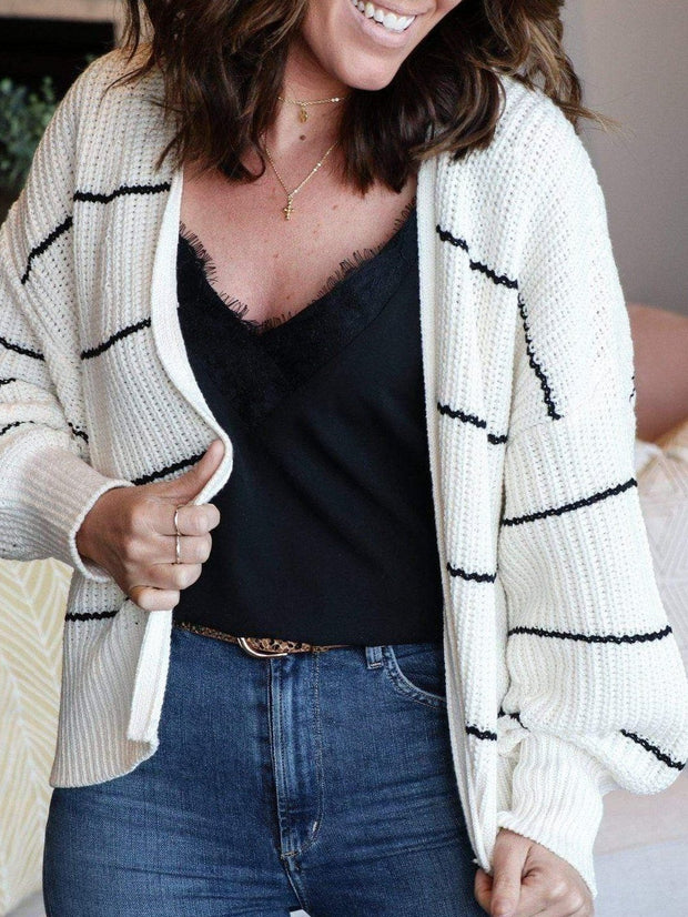 Gentle Fawn Open Front Stripe Cardigan