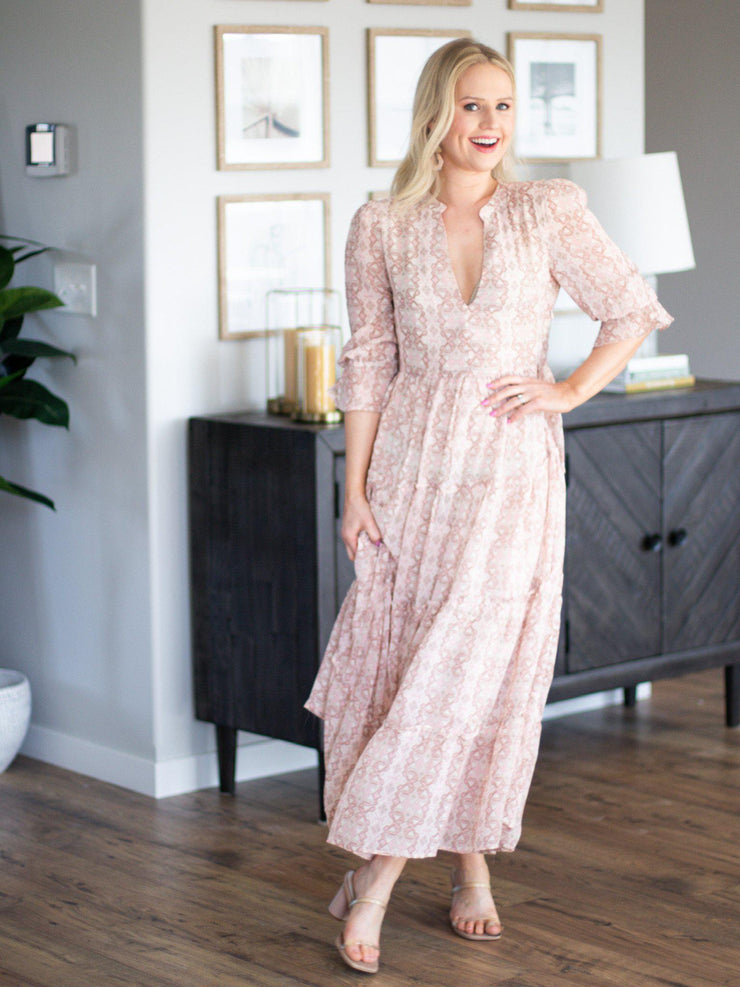 tiered skirt maxi dress