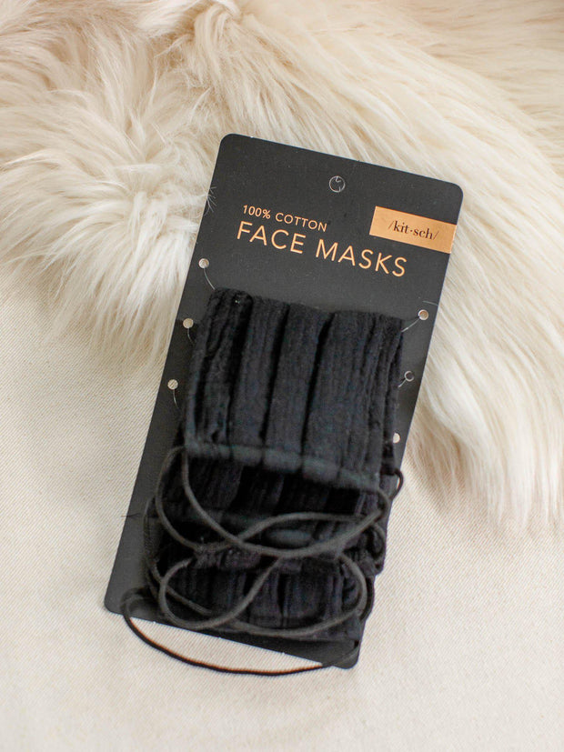 solid cotton face masks