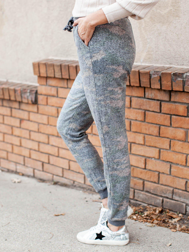 camo fleece sweats