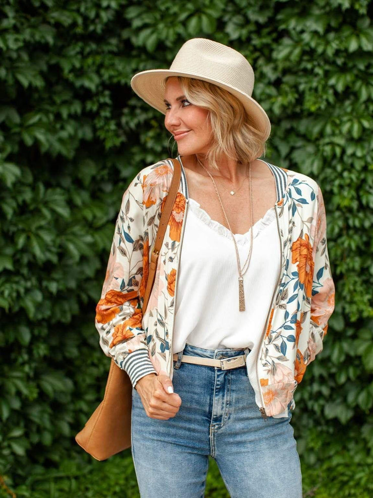 Saltwater Luxe Fall Floral Jacket