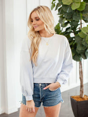 Agolde Cropped Basic Sweatshirt
