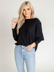 soft black dolman sweater
