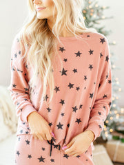 drop shoulder printed sweatshirt