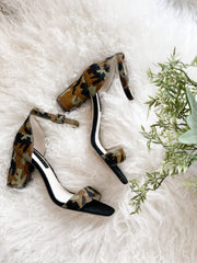 Sanctuary Camo Block Heel Sandal