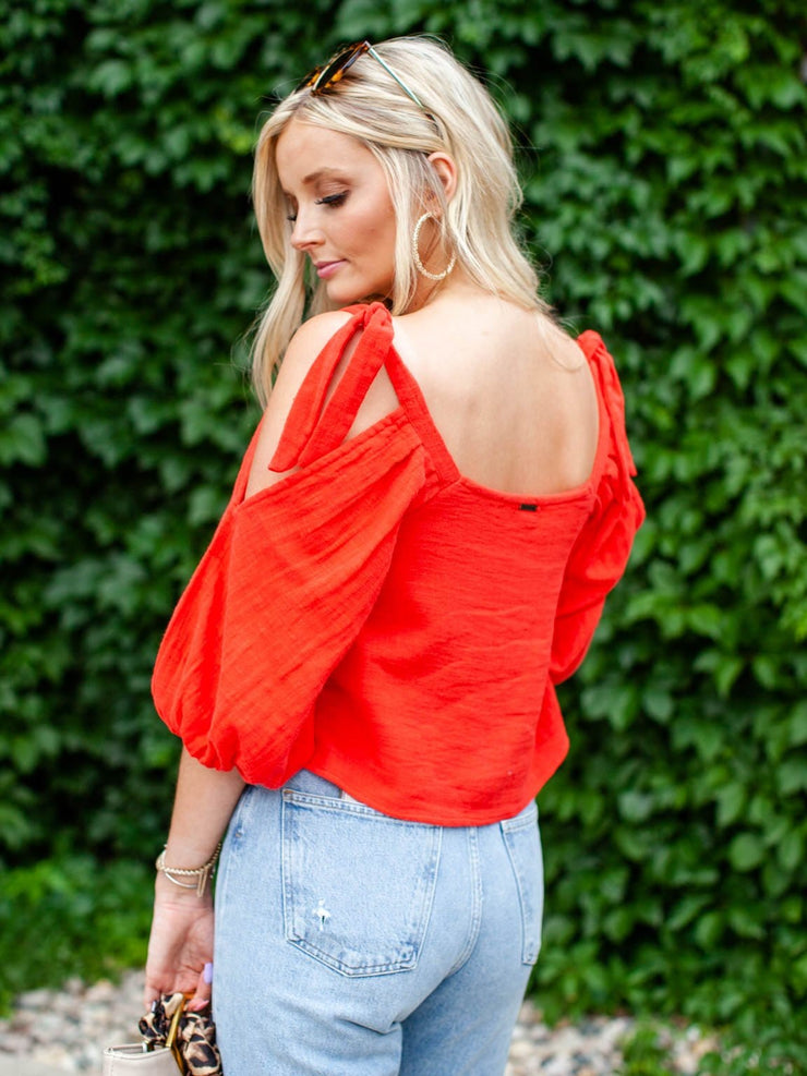 Billabong Square Neck Cold Shoulder Top