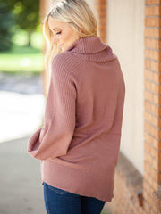 Tunic Length Turtleneck Sweater