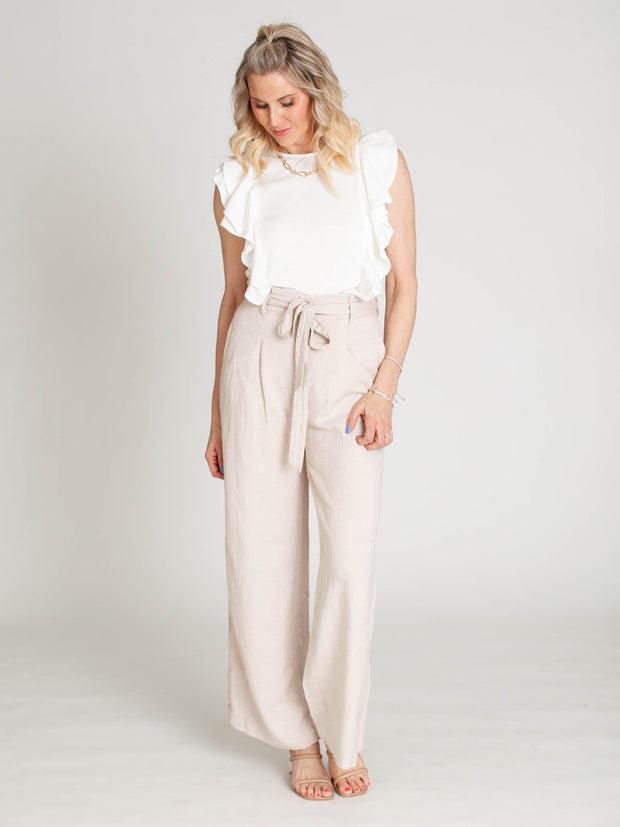 wide leg neutral pant