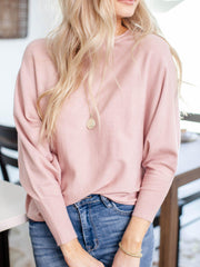 solid dolman sweater