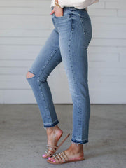 Joe's Jeans Knee Slit Cropped Pant