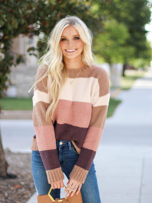 Basic Pullover Stripe Sweater