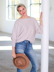 neutral dolman top