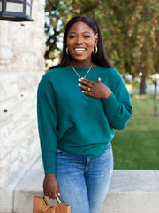 Dark Teal Dolman Top